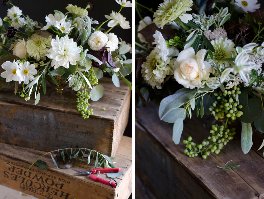 farmer florist centerpiece