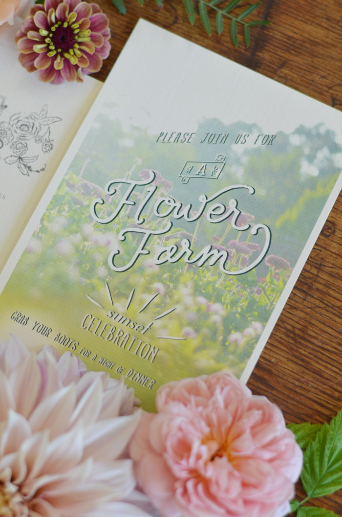 flower farm wedding invitations