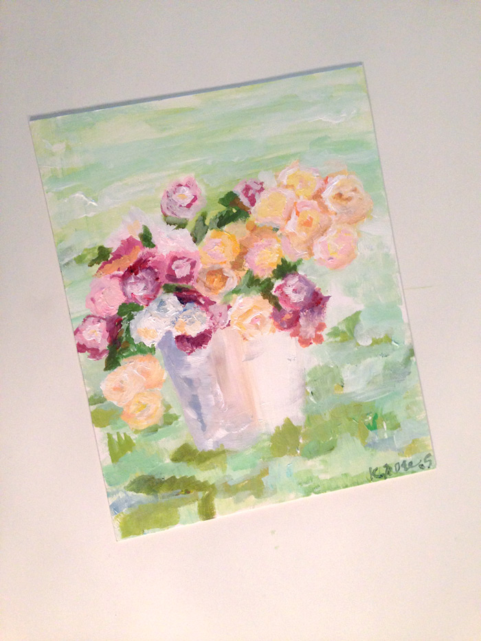 impressioniest flower painting