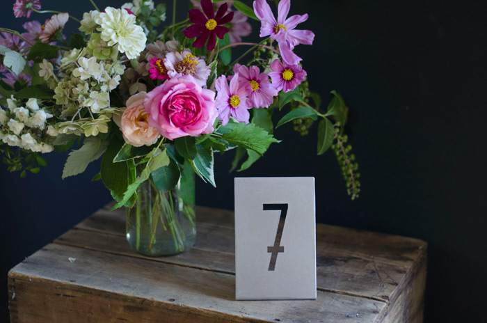 metal modern rustic metal table numbers for modern wedding