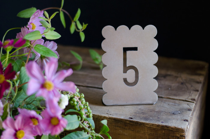scalloped metal modern rustic metal table numbers for modern wedding