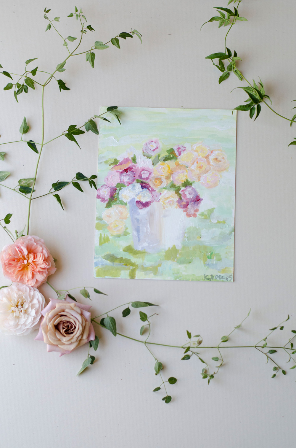 floral impressionist painting anthropologie